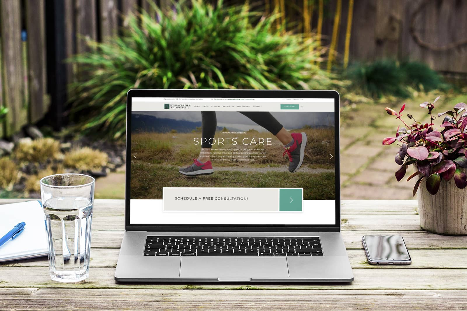 govs park chiropractic web design