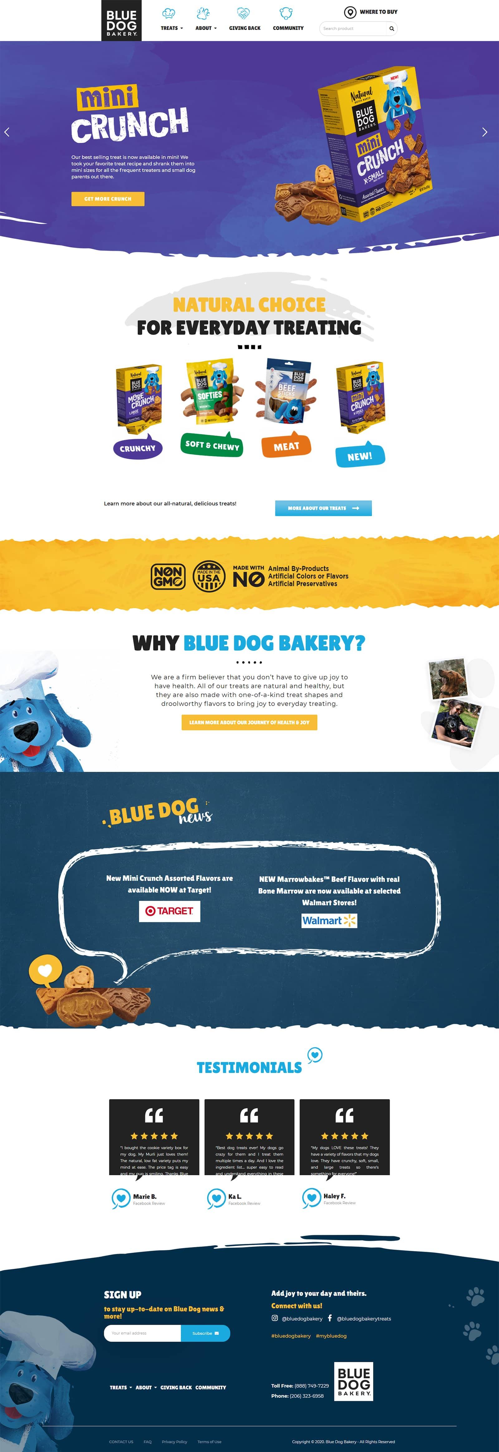 blue dog bakery full site