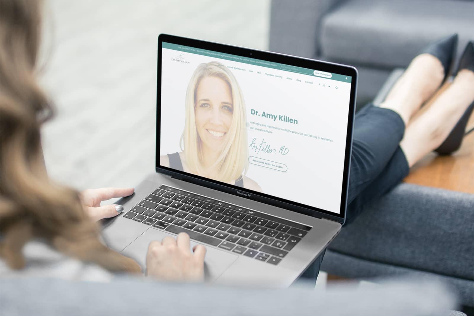 dr amy killen web design
