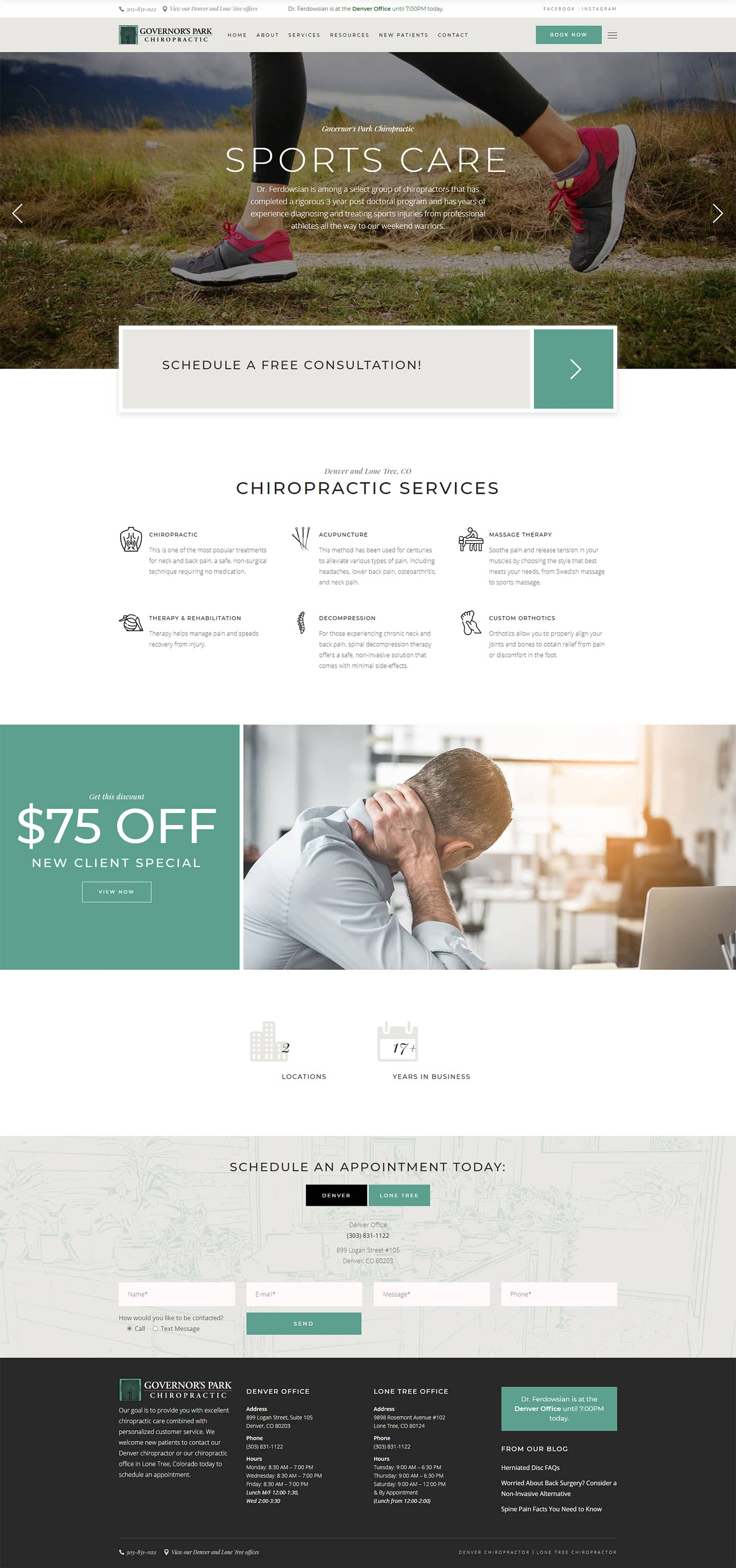 governors park chiropractic full site 1