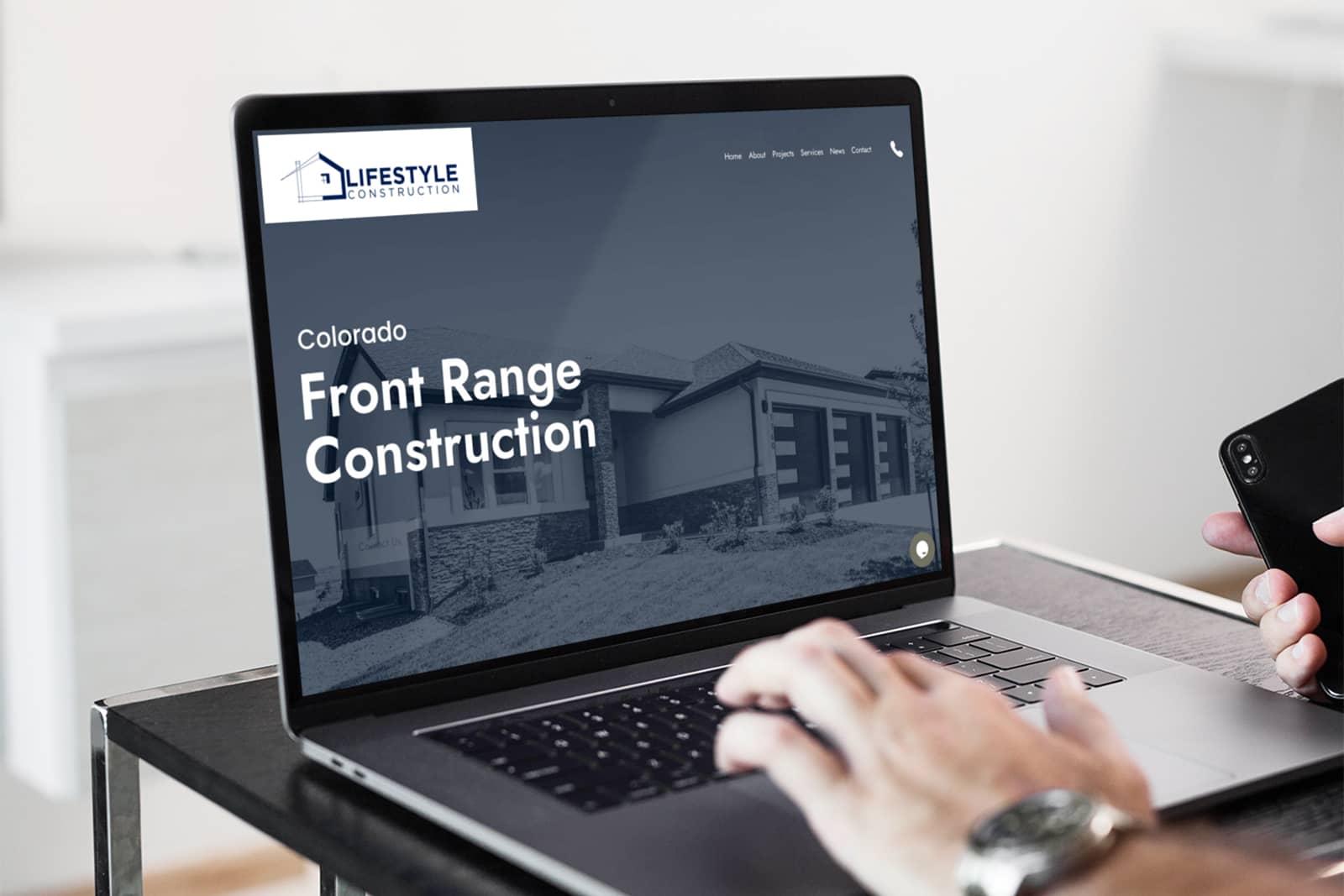 lifestyle construction web design