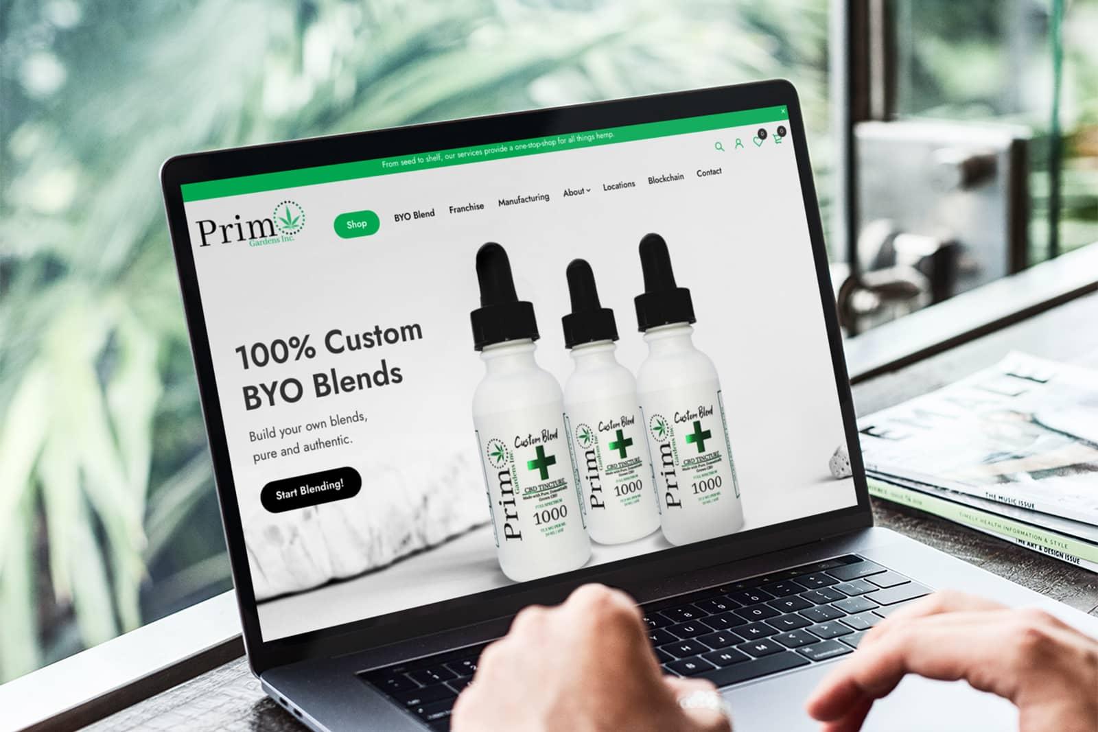 primo gardens inc web design